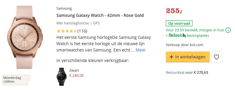 Top 1 Samsung Galaxy Watch - 42mm - Rose Gold review