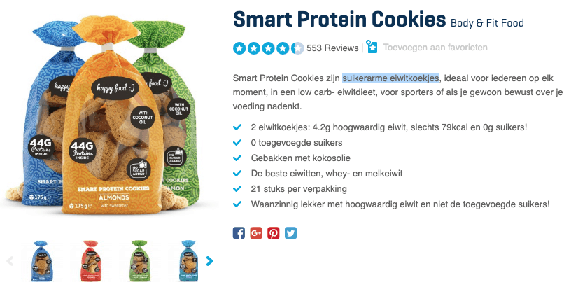 Top 2 Smart Protein Cookies Body & Fit Food reviews