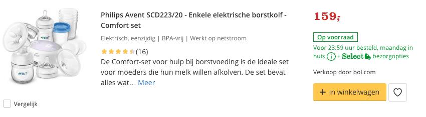 Top 3 Philips Avent SCD223:20 - Enkele elektrische borstkolf - Comfort set reviews