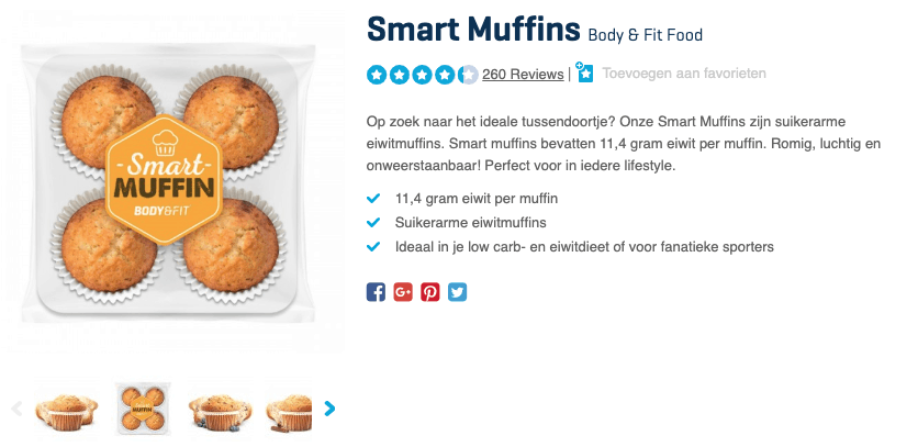 Top 3 Smart Muffins Body & Fit Food reviews