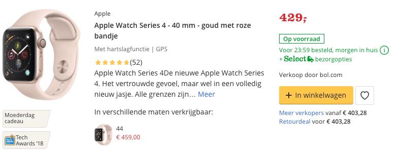 Top 5 Apple Watch Series 4 - 40 mm - goud met roze bandje review