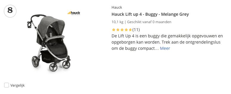 Top 5 Hauck Lift up 4 - Buggy - Melange Grey review