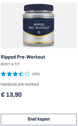 Top 5 Ripped Pre-Workout review