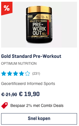 Top Gold Standard Pre-Workout OPTIMUM NUTRITION review