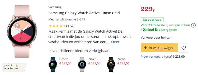 top 2 Samsung Galaxy Watch Active - Rose Gold review