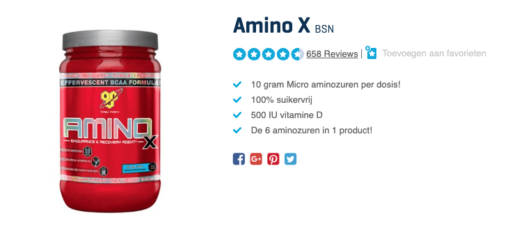 top 1 Amino X BSN review