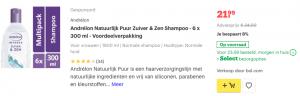 Top 1 Andrélon Natuurlijk Puur Zuiver & Zen Shampoo - 6 x 300 ml - Voordeelverpakking review