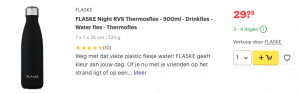 Top 1 FLASKE Night RVS Thermosfles - 500ml - Drinkfles review