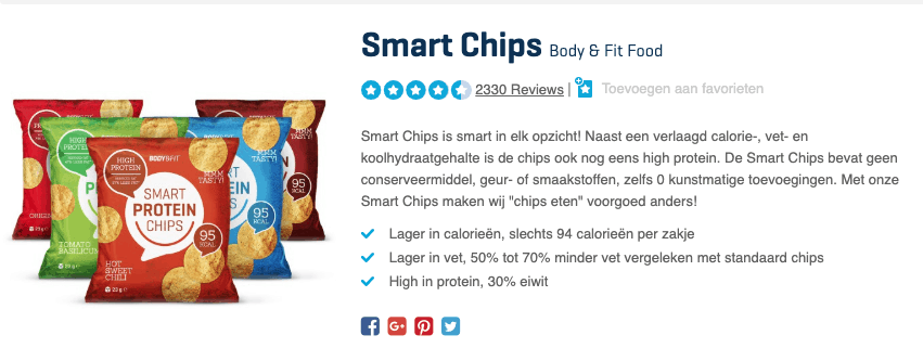 Top 1 Smart Chips Body & Fit Food review