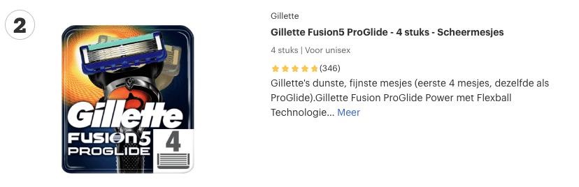 Top 2 Gillette Fusion5 ProGlide - 4 stuks - Scheermesjes revuew
