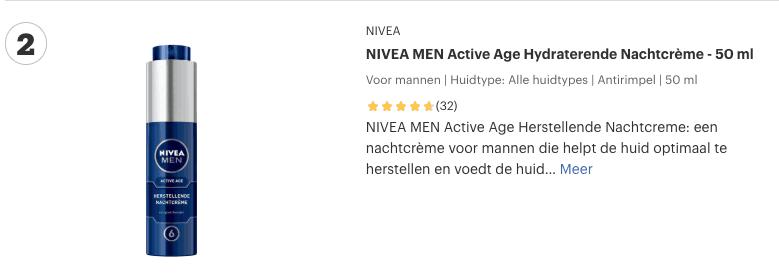 Top 2 NIVEA MEN Active Age Hydraterende Nachtcrème - 50 ml review