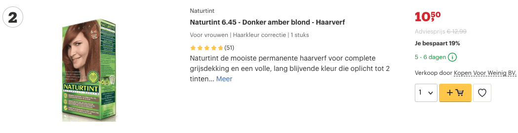 Top 2 Naturtint 6.45 - Donker amber blond - Haarverf review