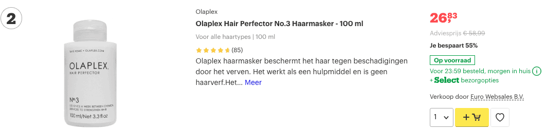 Top 2 Olaplex Hair Perfector No.3 Haarmasker - 100 ml review