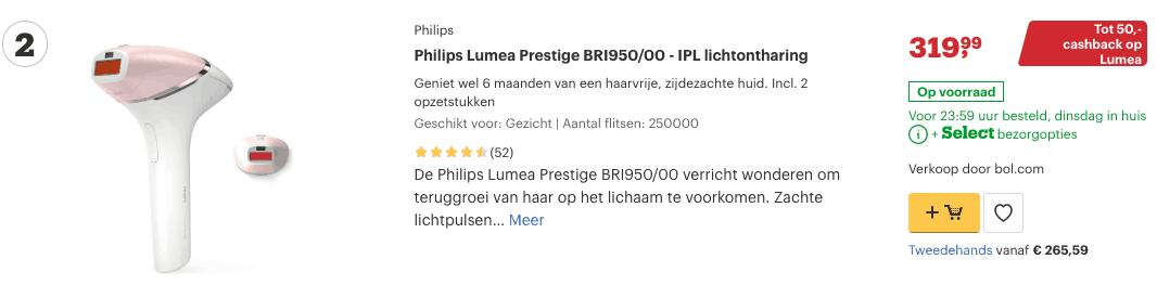 Top 2 Philips Lumea Prestige BRI950:00 - IPL lichtontharing review