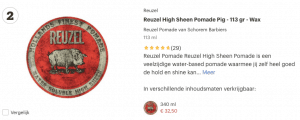 Top 2 Reuzel High Sheen Pomade Pig - 113 gr - Wax review