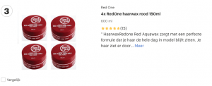 Top 3 4x RedOne haarwax rood 150ml review