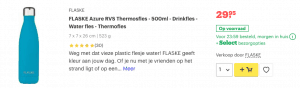 Top 3 FLASKE Azure RVS Thermosfles - 500ml - Drinkfles review