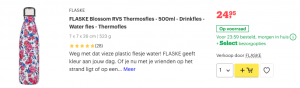 Top 3 FLASKE Blossom RVS Thermosfles - 500ml - Drinkfles review