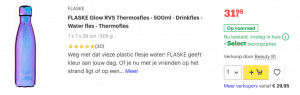 Top 3 FLASKE Glow RVS Thermosfles - 500ml - Drinkfles - Water fles - Thermofles review