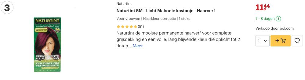 Top 3 Naturtint 5M - Licht Mahonie kastanje - Haarverf review