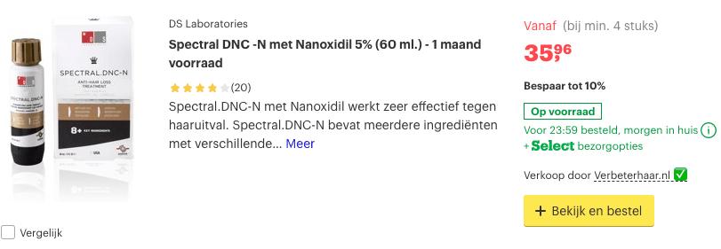 Top 3 Spectral DNC -N met Nanoxidil 5% (60 ml.) - 1 maand voorraad review