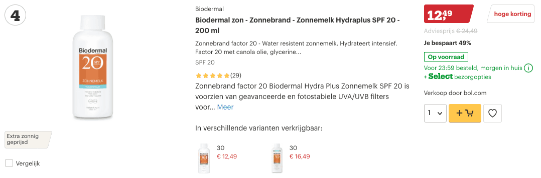 Top 4 Biodermal zon - Zonnebrand - Zonnemelk Hydraplus SPF 20 - 200 ml review