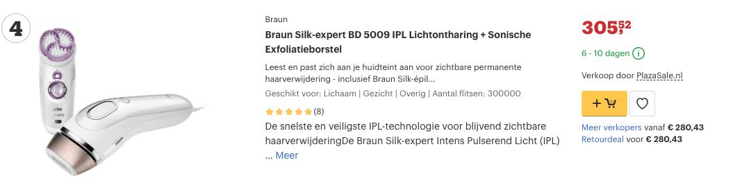 Top 4 Braun Silk-expert BD 5009 IPL Lichtontharing + Sonische Exfoliatieborstel review