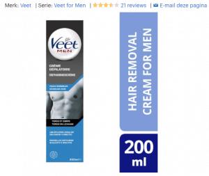 Top 4 Veet for Men Ontharingscrème - Gevoelig - 200 ml review