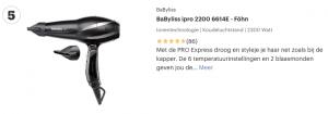 Top 5 BaByliss ipro 2200 6614E - Föhn review