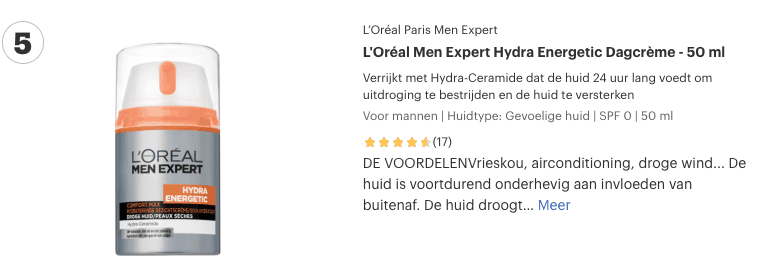Top 5 L'Oréal Men Expert Hydra Energetic Dagcrème - 50 ml review