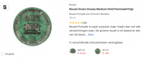Top 5 Reuzel Green Grease Medium Hold Pommade 113 gr - Wax review