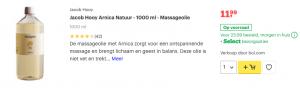 top 3 Jacob Hooy Arnica Natuur - 1000 ml - Massageolie review