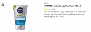 top 3 NIVEA MEN Active Energy Face Wash - 100 ml review