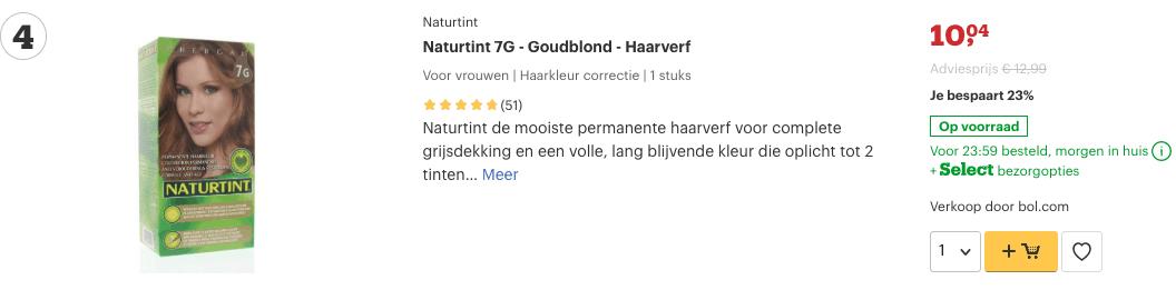 top 4 Naturtint 7G - Goudblond - Haarverf review