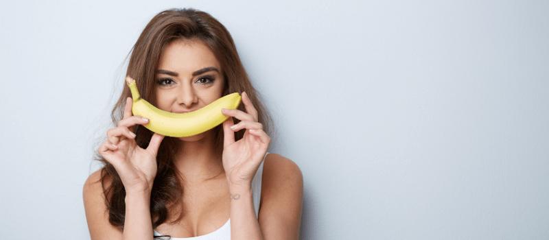 Buikvet verbranden met banaan