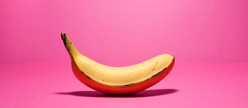 Buikvet verbranden met een banaan