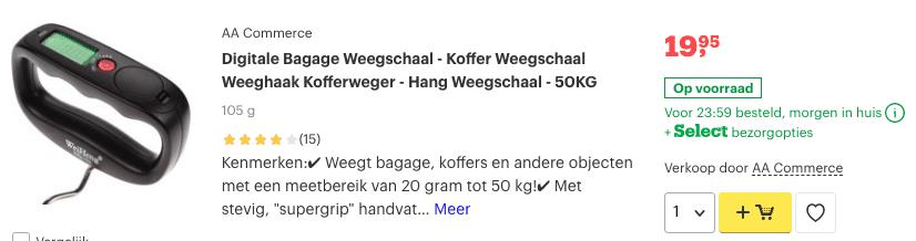 Top 2 Digitale Bagage Weegschaal - Koffer Weegschaal Weeghaak - 50KG review