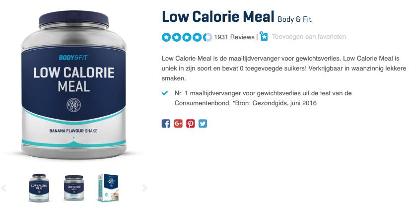 Top 3 Low Calorie Meal afslankshake review