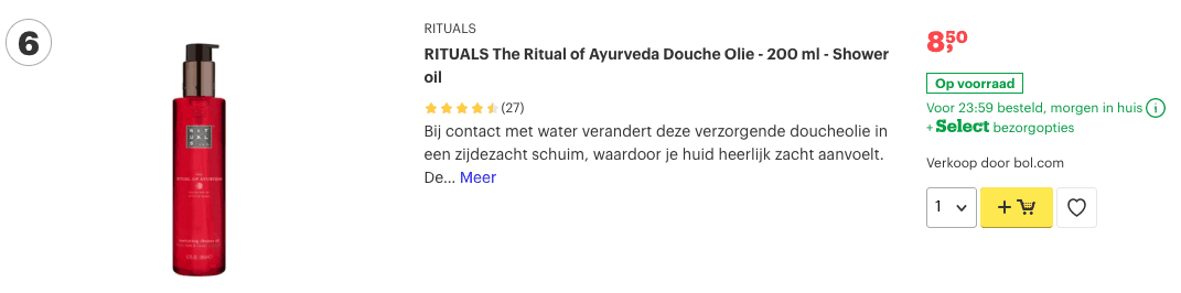 Top 5 RITUALS The Ritual of Ayurveda Douche Olie - 200 ml - Shower oil review