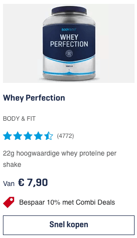 Top 1 Whey Perfection BODY & FIT review