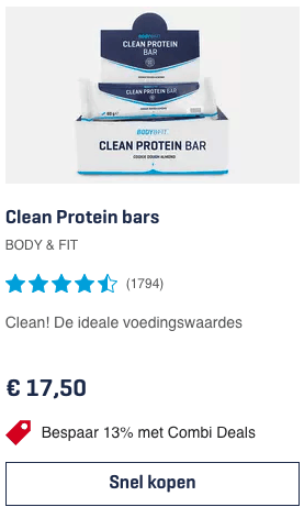Top 2 Clean Protein bars BODY & FIT review