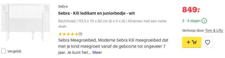Top 5 Sebra - Kili ledikant en juniorbedje - wit review