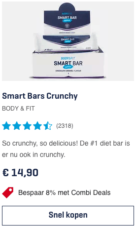 top 1 Smart Bars Crunchy BODY & FIT review