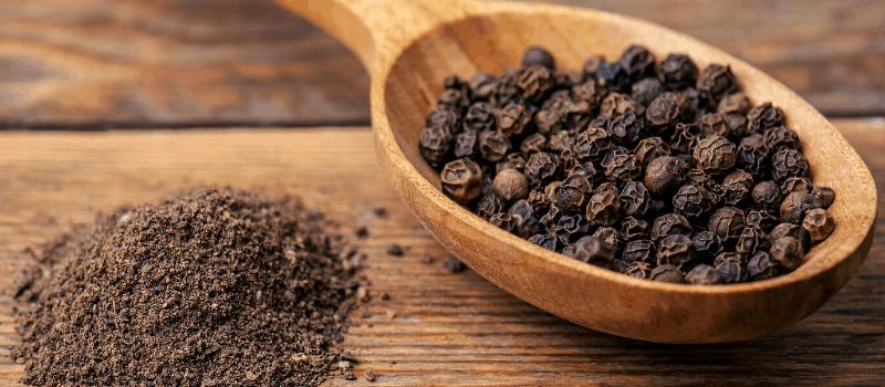 Afvallen met zwarte peper