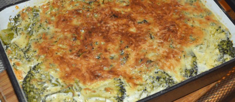 Ovenschotel met broccoli en zalm