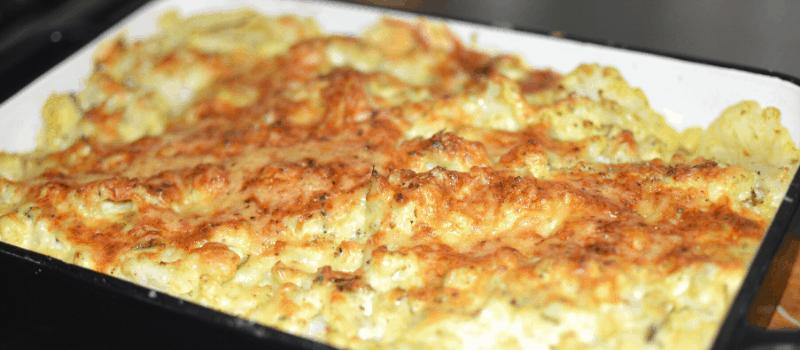 Recept bloemkool uit de oven met kaas