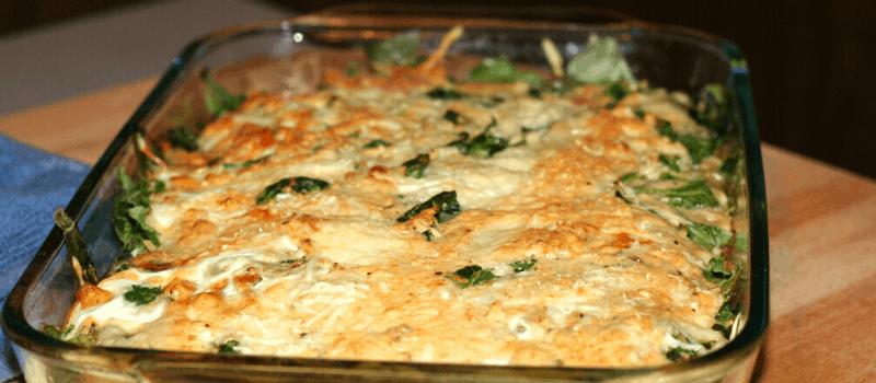 Spinazie ovenschotel met ei