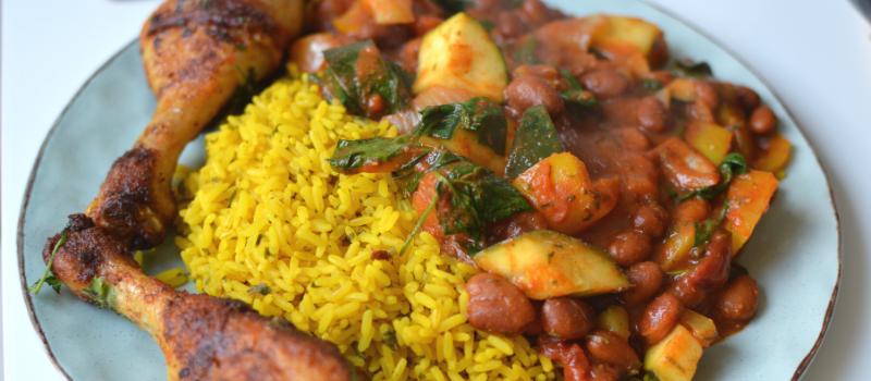 Dominicaanse rijst met kip maken