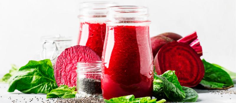 Smoothie met rode bietensap maken