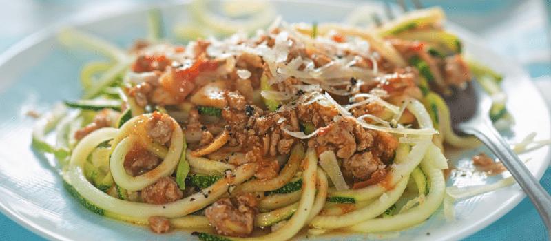 Courgette spaghetti koolhydraatarm